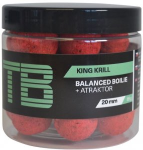 TB Baits Vyvážené Boilie Balanced + Atraktor King Krill 100 g - 20 mm