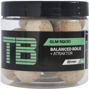 TB Baits Vyvážené Boilie Balanced + Atraktor GLM Squid 100 g - 20 mm