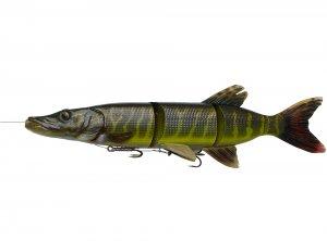 Savage Gear Gumová Nástraha 4D Line Thru Pike Striped Pike - 48 cm - 820 g-Délka - 48 cm - Hmotnost - 820 g