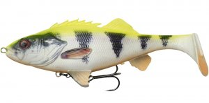 Savage Gear Gumová Nástraha 4D Perch Shad Line Thru SS Lemon Perch - 17,5 cm 67 g-Délka - 17,5 cm - Hmotnost - 67 g