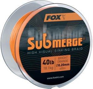 Fox Splétaná Šňůra Submerge High Visual Sinking Braid - 600 m - 0,20 mm 18,1 kg