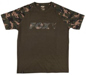 Fox Triko Camo Khaki Chest Print T-Shirt - M