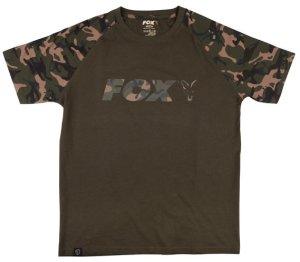Fox Triko Camo Khaki Chest Print T-Shirt - L