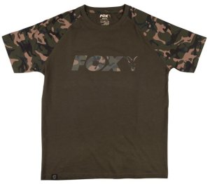 Fox Triko Camo Khaki Chest Print T-Shirt - XL