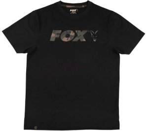 Fox Triko Black Camo Chest Print T-Shirt - S