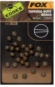 Fox Korálky Edges Camo Tapered Bore Bead 30 ks - 4 mm