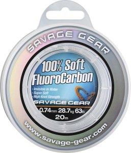 Savage Gear Florocarbon Soft Fluoro Carbon 15 m - Průměr 1,0 mm / Nosnost 50,5  kg