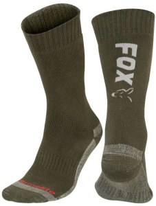 Fox Ponožky Collection Green Silver Thermolite long sock - 40-43