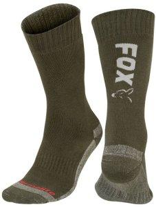 Fox Ponožky Collection Green Silver Thermolite long sock - 44-47