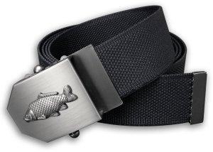 Textilní opasek s kovovou přezkou Kapr - Černý