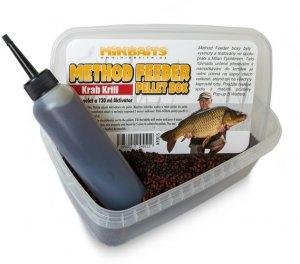 Mikbaits Method Feeder pellet box 400g+120ml - Krab Krill