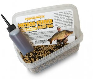 Mikbaits Method Feeder pellet box 400g+120ml - Sladká kukuřice