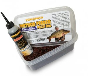 Mikbaits Method Feeder pellet box 400g+120ml - Švestka Halibut