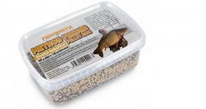 Mikbaits Pelety Method Feeder Pellet Box Sladká Kukuřice 400g + 120ml Booster