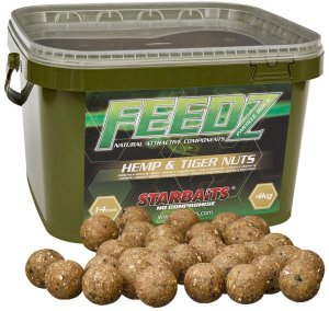Starbaits Boilies FEEDZ Hemp & Tiger 4kg - 20mm