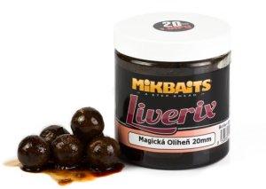Mikbaits Boilie v dipu Liverix 250ml - Mazaná škeble 16mm