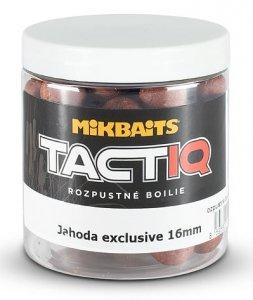 Mikbaits Rozpustné Boilies Tactiq Jahoda Exclusive 250 ml - Průměr 16 mm