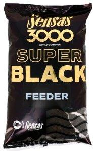 Sensas Krmítková směs 3000 Super Black 1kg - Feeder