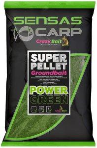 Sensas Krmítková směs Crazy Baits 1kg - Green
