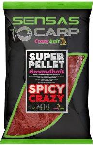 Sensas Krmítková směs Crazy Baits 1kg - Spicy