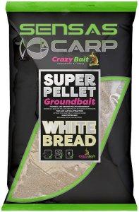 Sensas Krmítková směs Crazy Baits 1kg - White Bread