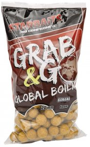 Starbaits Boilie Grab & Go Global Boilies Banana Cream 20 mm - 1 kg
