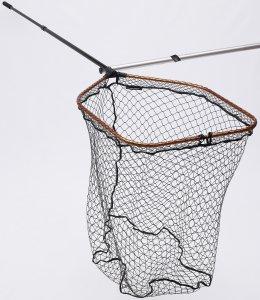 Savage Gear Podběrák Pro Tele Folding Net Rubber X Large Mesh - Velikost XL 85x70 cm, Tr. -Velikost XL 85x70 cm, Tr. Délka 125 cm, Délka 288 cm