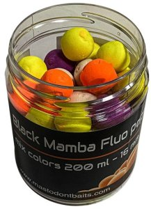 Mastodont Baits Fluo Pop-Up Boilies mix colors 16mm 200ml - Squid Attack