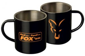 Fox Hrnek Stainless Mug 0,4l černý matný