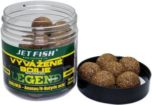 Jet Fish Vyvážené Boilie Legend Range Bioliver-Ananas/N-butyric - 20 mm 250 ml