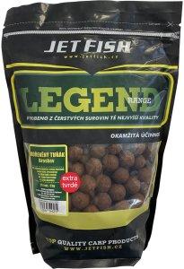 Jet Fish Extra Tvrdé Boilie Legend Range Klořeněný Tuňák Broskev 30 mm 250 g