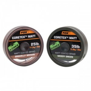 Fox Edges Matt Coretex 20 m-Gravelly Brown / Nosnost 25 lb / Barva Brown