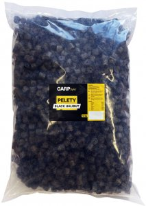 Carpway Pelety Black Halibut S Dírou 12 mm 10 kg