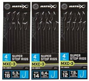 """Matrix Návazec MXC-3 4"""" Super Stop Rigs - Velikost Háčku 14 Nosnost 2,9 kg"""