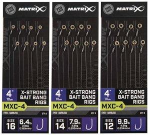 "Matrix Návazec MXC-4 4"" X-Strong Bait Band Rigs - Velikost Háčku 16 Nosnost 2,9 kg"