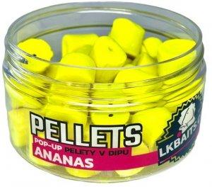 LK Baits Pop-up Pelety v dipu Ananas 40g - 12mm