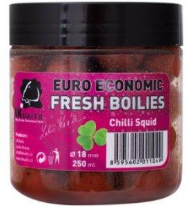LK Baits Boilie Fresh Euro Economic Chilli Squid 18 mm 250 ml