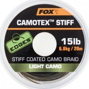 Fox Návazcová Šňůrka Camotex Light Stiff 20 m-Průměr 15 lb / Nosnost 6,8 kg