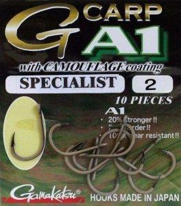 Gamakatsu Háčky G-Carp Specialist CAMOU A1 10ks-Velikost 4