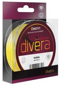 Delphin Šňůra Divera Feeder fluo zelená - 0,10mm 10lbs 150m