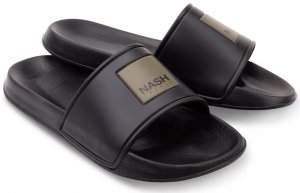 Nash Pantofle Sliders Black - 45