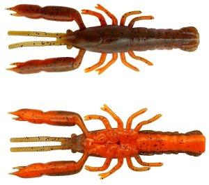 Savage Gear Gumová Nástraha 3D Crayfish Rattling Brown Orange 8 ks - 5,5 cm 1,6 g