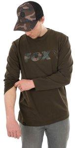 Fox Triko Long Sleeve Khaki/Camo T-Shirt - XL