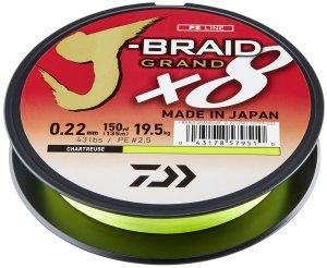 Daiwa Splétaná Šňůra J-Braid Grand X8E Žlutá 270 m - 0,22 mm 19,5 kg