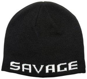 Savage Gear Zimní čepice Logo Beanie Black/White