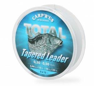 Carp ´R´ Us Ujímaný Šokový Vlasec Total Tapered Line - Průměr 0,25-0,50 mm