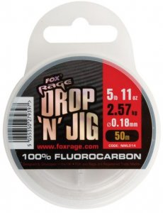 Fox Rage Fluorocarbon Drop 'N' Jig Fluorocarbon 50m - 0.22mm 3.53kg