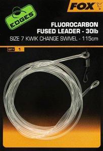 Fox Návazec Fluorocarbon Fused leader 115cm 30lb - vel.7