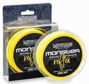 Mivardi Splétaná Šňůra Monster Reflex Braid 200 m Žlutá-Průměr 0,80 mm