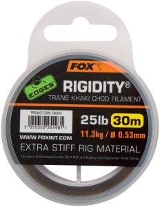 Fox Návazcový Vlasec Edges Rigidity Chod Filament 30 m Trans Khaki-Průměr 0,57 mm / Nosnost 13,6 kg